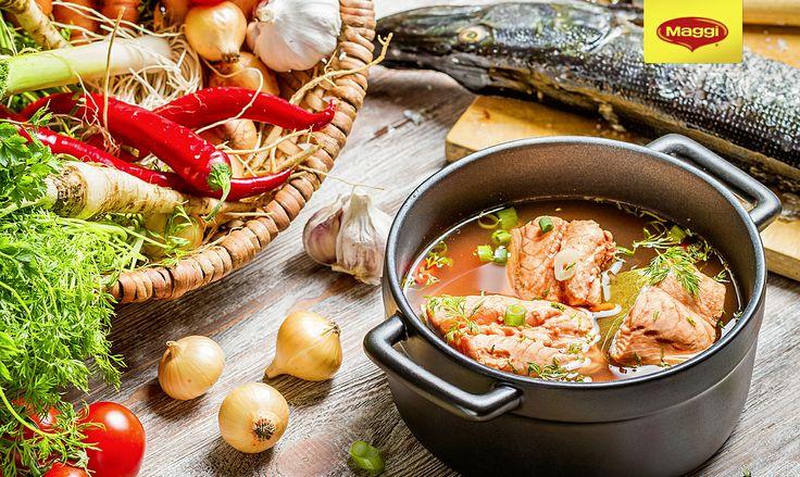 Ciorba de peste // Fish soup  Reteta MAGGI te asteapta aici: https://www.maggi.ro/ciorba-de-peste. Pentru un plus de savoare, putem adauga si un strop de MAGGI Secretul Gustului.  Pofta buna!