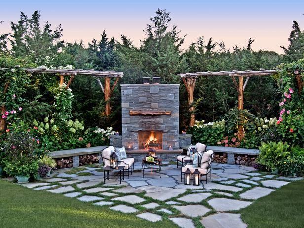 Fireside Retreat in Garden Retreats: Peaceful Outdoor Sanctuaries We Love from HGTV