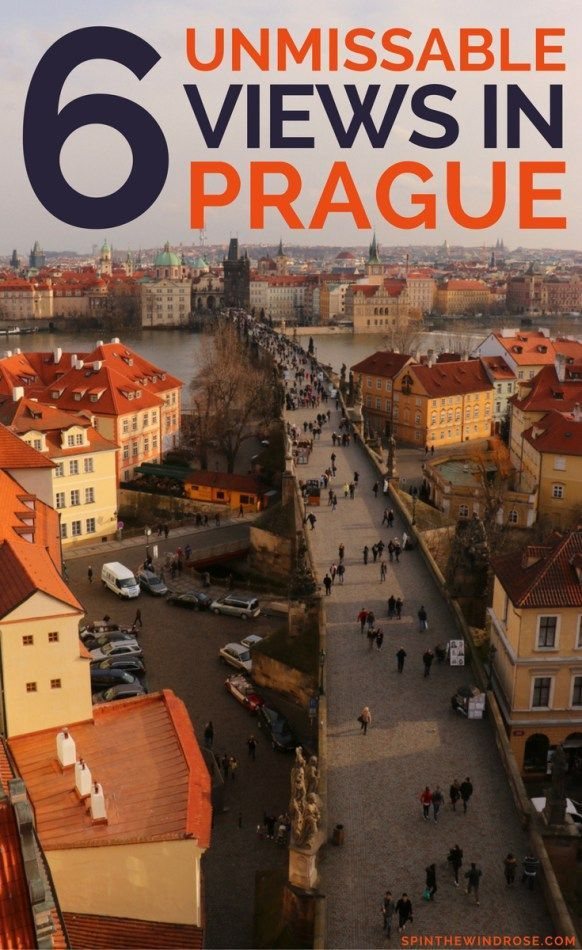 With her terracotta roofs and green spires, the Golden City is just beautiful. Here are six unmissable view spots in Prague.  Prague | Czechia | Czech Republic | Europe | Photos | Views | spinthewindrose.com