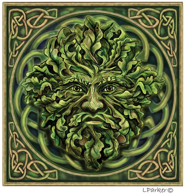 Green Man by Lisa Parker Maybe Convert to a Cross Stitch Pattern