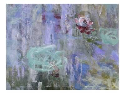 Waterlilies and Reflections of a Willow Tree, 1916-19 Giclee Print by Claude Monet at Art.com