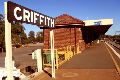 Griffith Railway Station. Unfortunately, there are few passenger trains now, but the coach service runs from here. The last place I saw my Dad <3