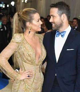 海外セレブスナップ | Celebrity Style: 【ブレイク・ライヴリー】今年はストレートヘアで!美しい鳥をイメージするようなドレスで夫ライアン・レイ...