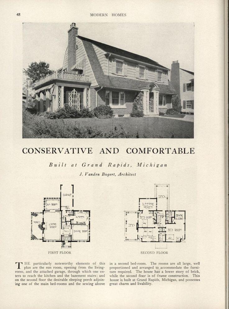 468 best Vintage Home Plans images on Pinterest Vintage houses