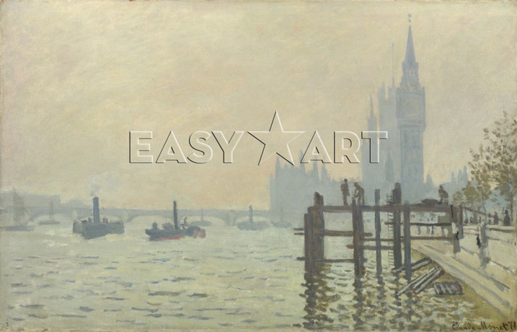 The Thames below Westminster print
