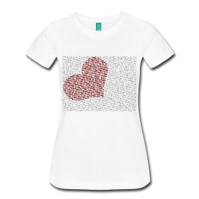 Worded heart...  http://1017556.spreadshirt.com/
