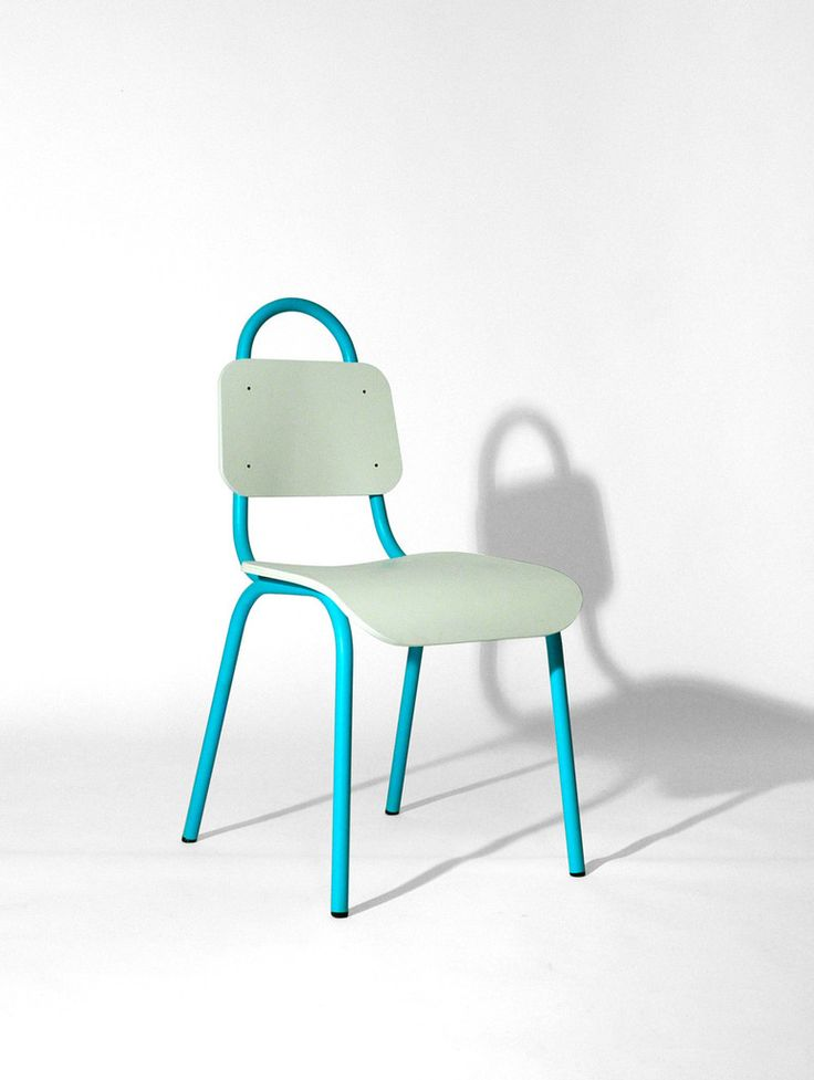 Dining Chair Turquoise and White – Primary Grey