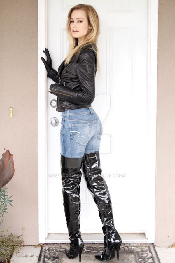 hot women in jeans and boots - photo #14