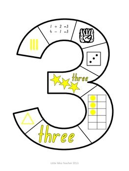 Number Puzzles (Numbers 1 - 9 Included). Cut out, cut up and play!