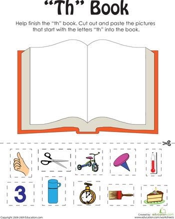 """Worksheets: """"Th"""" Words: A Word Family Book"""