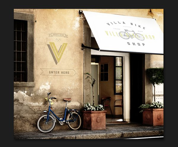 Villa Bike Shop by Jay DeLutis, via Behance