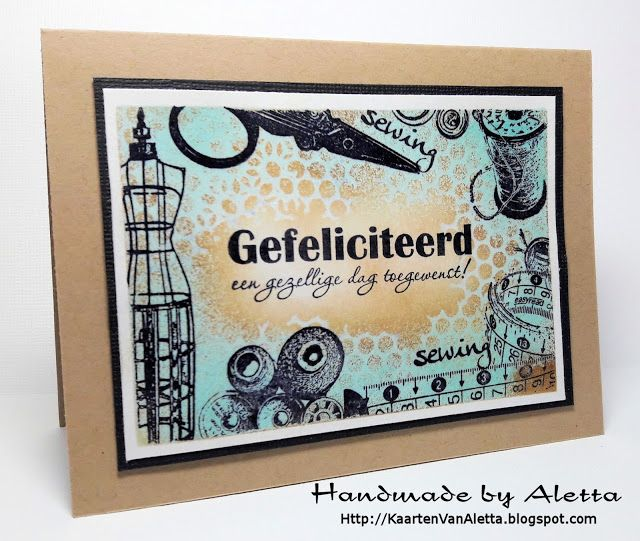 "Handmade by Aletta: Art Journey stempels ""sewing"""