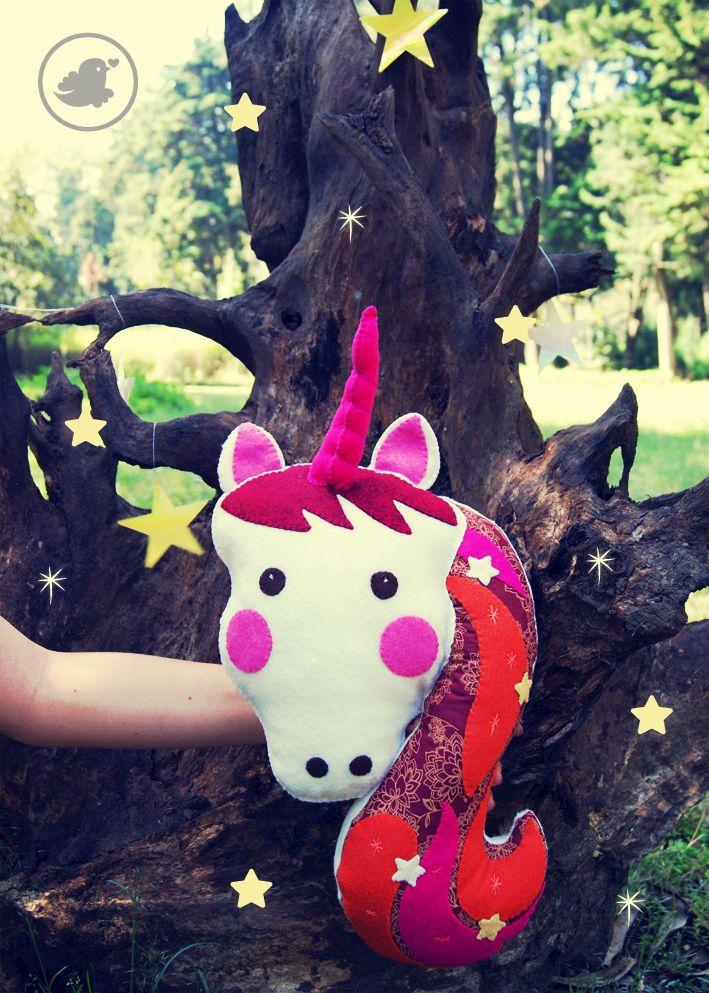 Unicornio, plush toy. www.florula.com.mx/tiendita-2