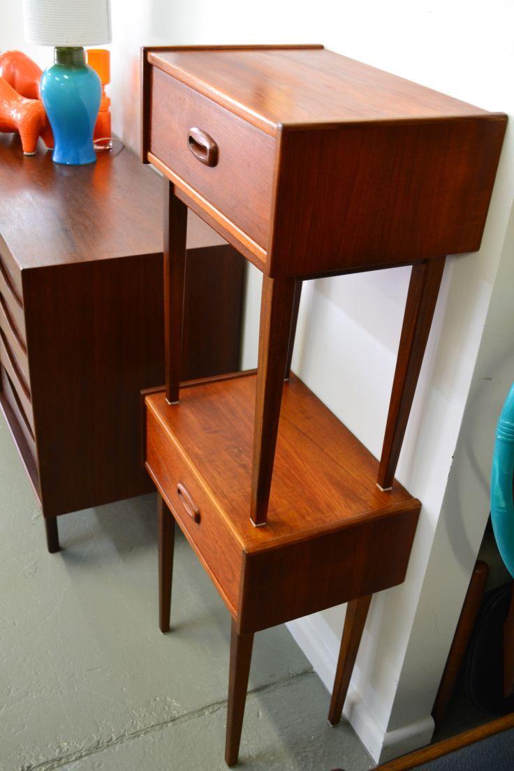 best t  t sells mcm furniture images on pinterest  mcm  - australian parker teak bedside tables refurbished by tangerinetealwwwtangerineandtealcom mcm furniturebedside