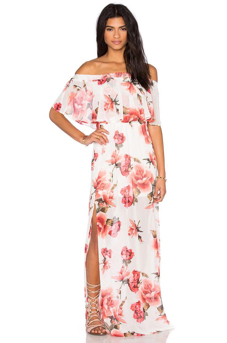 Show Me Your Mumu Hacienda Maxi Dress in Romuntic Rose