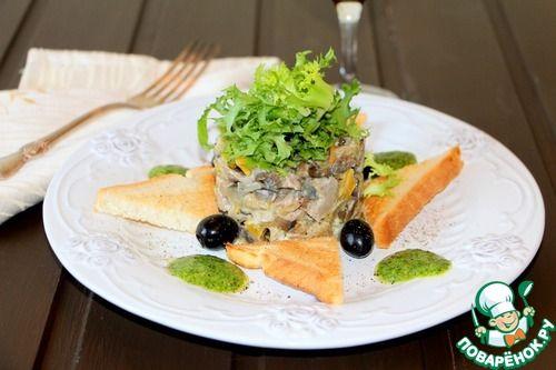 """Салат с языком """"Изысканный"""" - кулинарный рецепт"""