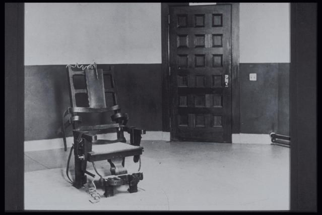 The electric chair replaced hanging in 1888 - however the commercial rivalry between Thomas Edison and George Westinghouse promoted the use of the electric chair.