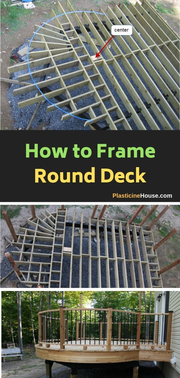 How To Build A Curved Deck Deck Framing Curved Deck Building A Deck
