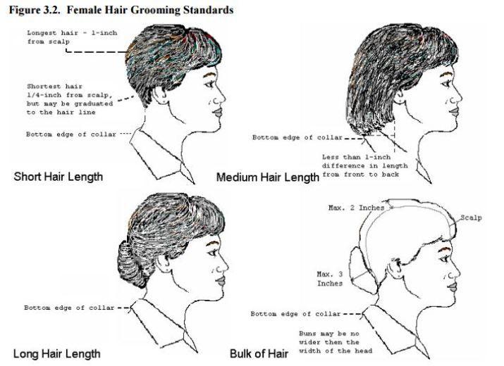 Air Force Hair Regulations For Females Hair Military Hair Air Force
