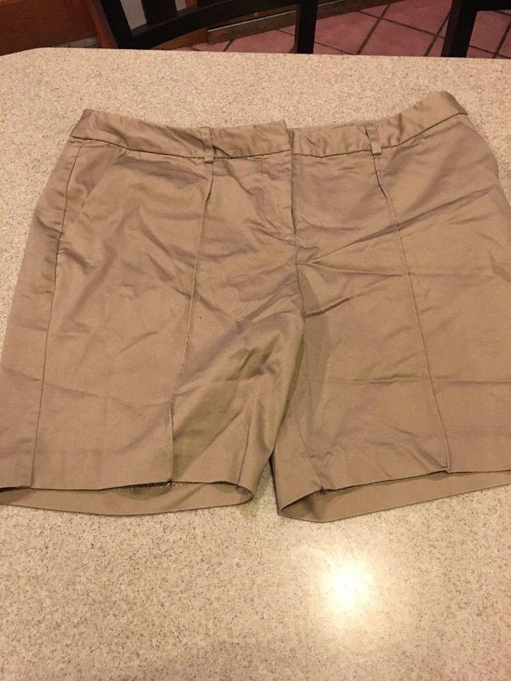Worthington Brand Petite Modern Fit Shorts Beige/Khaki Size 14P  #Worthington #CasualShorts
