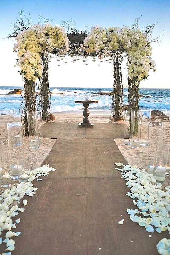 Best 25 beach themed weddings ideas on pinterest beach table 43 best beach weddings ideas decor and detail junglespirit Images