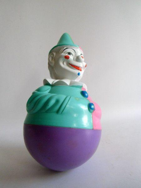 Spielzeugfiguren - vintage Stehaufmännchen  - stehauf Clown - ein Designerstück von MaDuett bei DaWanda