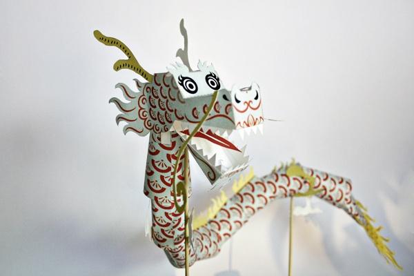 paper toy dragon freebie
