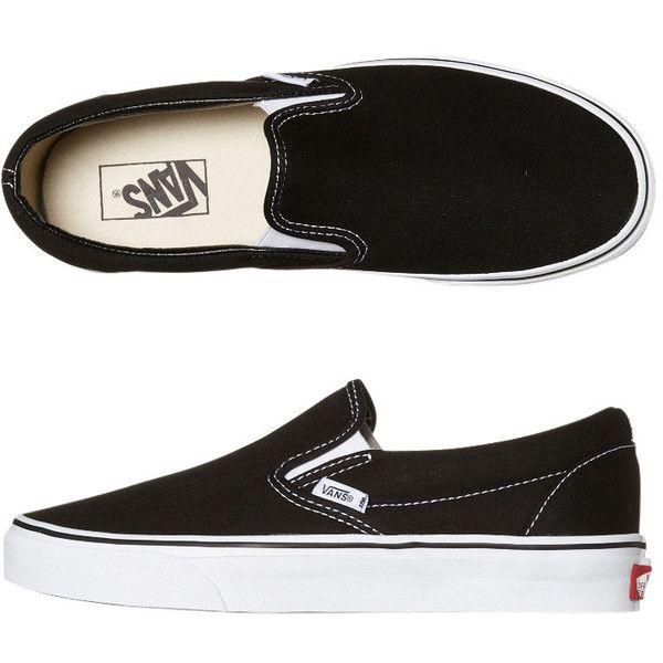 Mens Vans Classic Slip On Shoe -mc- Black Cotton ($76) ❤ liked on Polyvore featuring men's fashion, men's shoes, men's dress shoes, shoes, trainers, black, footwear, mens footwear, slip ons and mens shoes