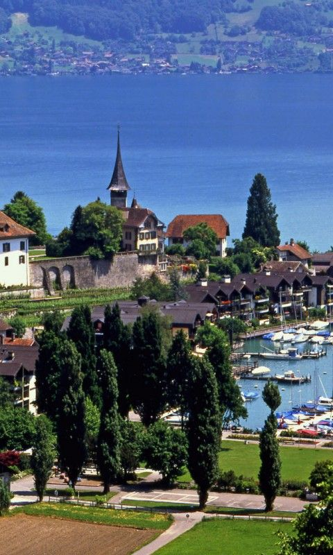 Switzerland Spiez Lake