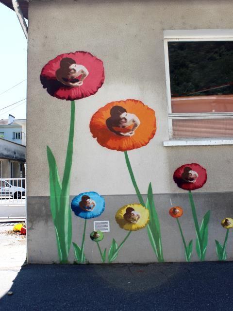 bigbenstreetart - mur ecole Lyon 9e - flowers dancing