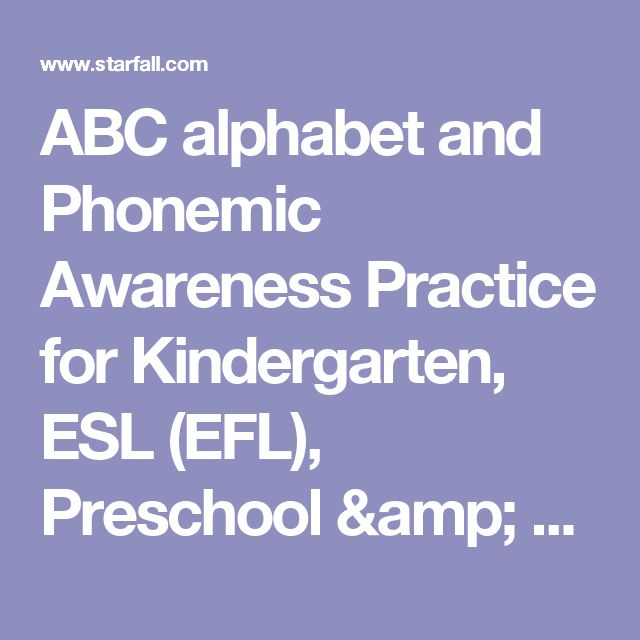ABC alphabet and Phonemic Awareness Practice for Kindergarten, ESL (EFL), Preschool & Special Education