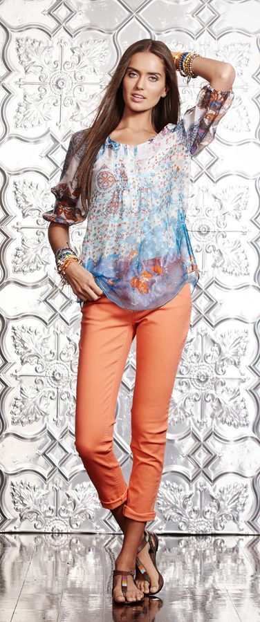 4: SHIRT or FLOATY TOP: Loobies Story Fanfare Blouse $275 www.sassys.co.nz