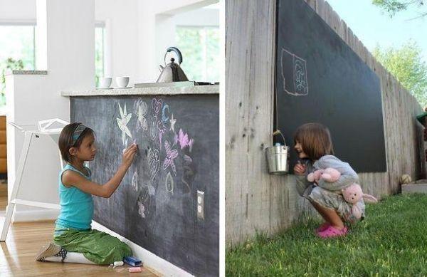 Indoor und Outdoor-schwarze Kreidetafel einsetzbar-Ideen für Kinderspiele