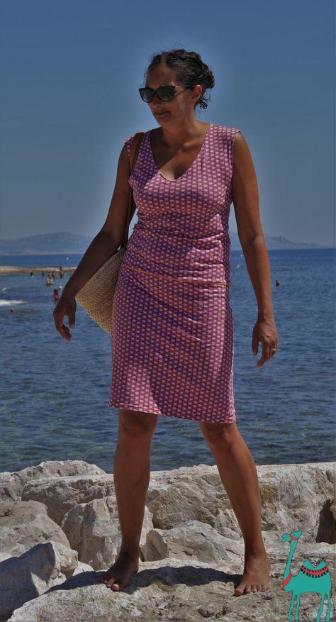 1 Meter für 1 Strandkleid/ Robe de plage avec 1 mètre de jersey