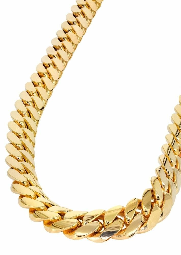 15mm Yellow Gold Cuban Link Chain Capital Bling Gold Hiphop Jewelry Gold Chains For Men Chains For Men Gold Chain Design