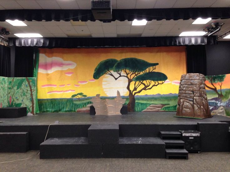 Eleazar_art the Lion King Jr backdrop is finally up. I must say it's such a great feeling having it up finally starting from the initial design. Lots of work and help from parent volunteers a...