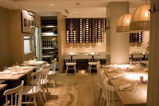 Interior of the Machiavelli restaurant, London