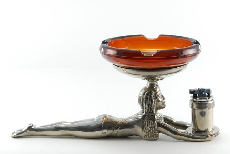 ronson new yorker prone egyptian art deco table cigarette lighter