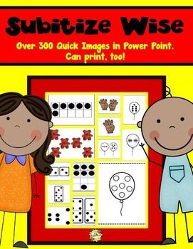 Over 300 Quick Images you can use for Subitizing and Number Talks. Use as Power Point or print! $