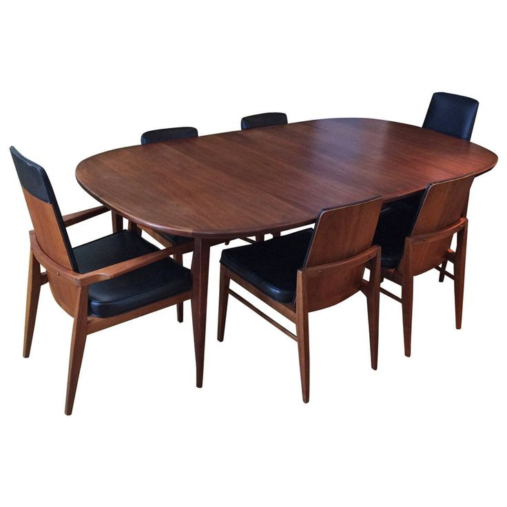 View This Item And Discover Similar Dining Room Sets For Sale At    Mid Century Modern Walnut Dining Set By Foster McDavid. Founded In 1950 In  Tampa, Florida ...