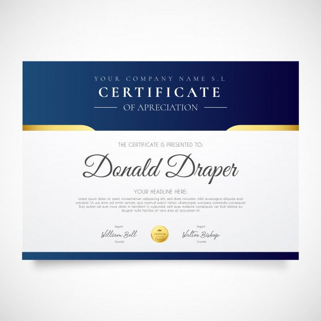 Download Elegant Certificate Template For Free Desain Inspirasi