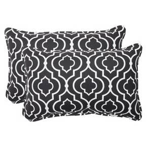 Outdoor 2-Piece Lumbar Throw Pillow Set - Starlet