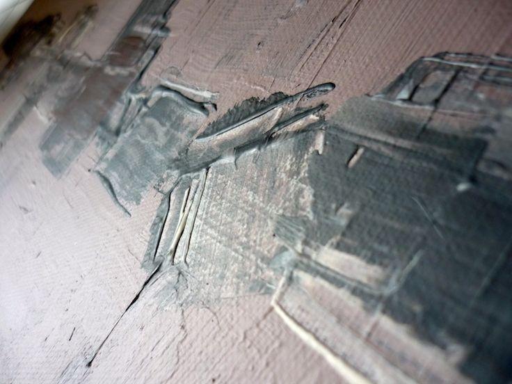 Peinture fraiche : skyline #1 Acrylique sur toile