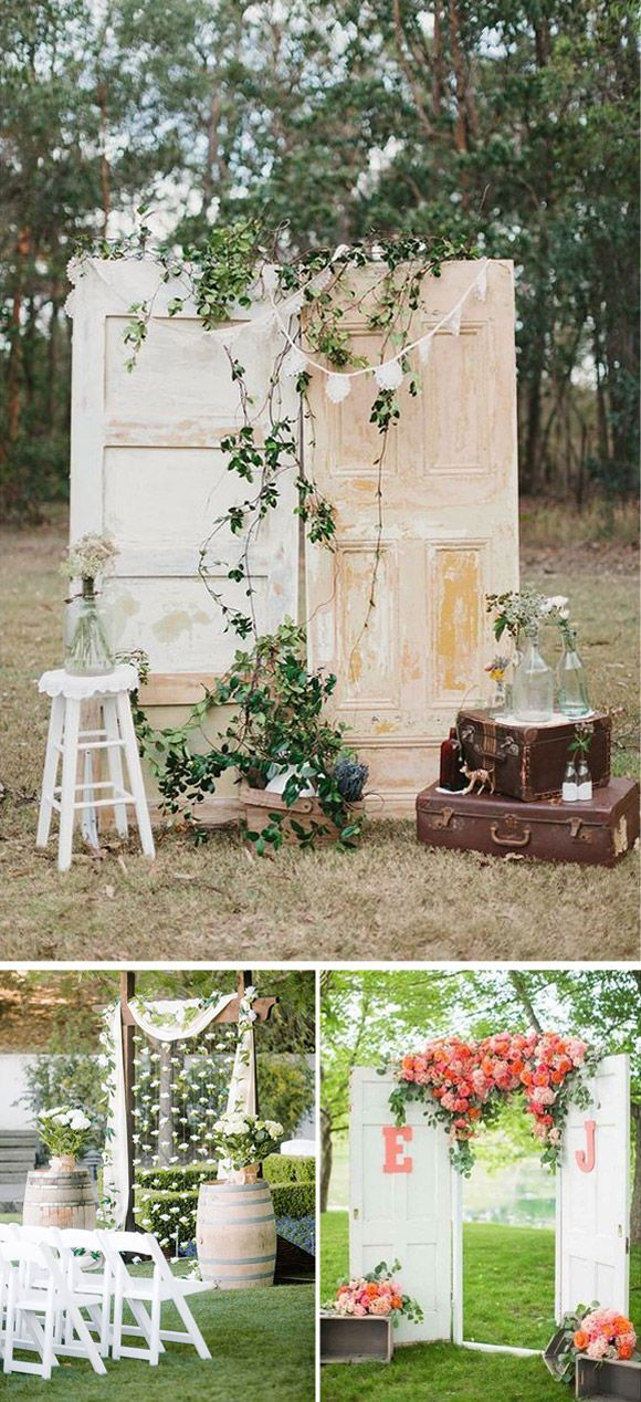 ideas para decorar el altar de tu boda con puertas