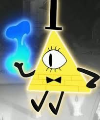 Bill Cipher: THE most mysterious character of Gravity Falls! He is creepy, and was summoned by Gideon Gleeful, to get a code to Stan's safe. I hope to see him again in the new season in June.