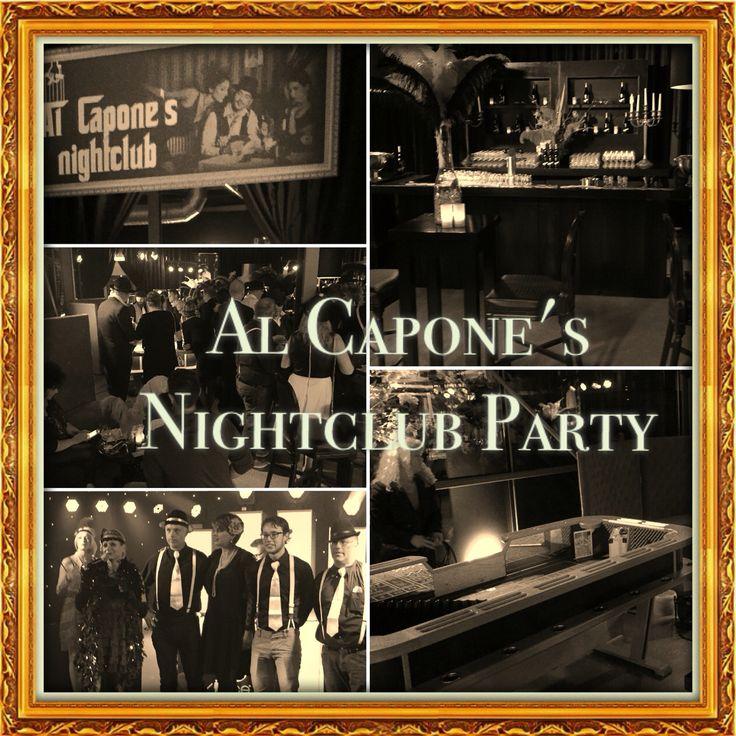 Themafeest maffia. Gedeelte van de fabriek omgebouwd tot Al Capone's Nightclub. Http://www.advance-events.nl