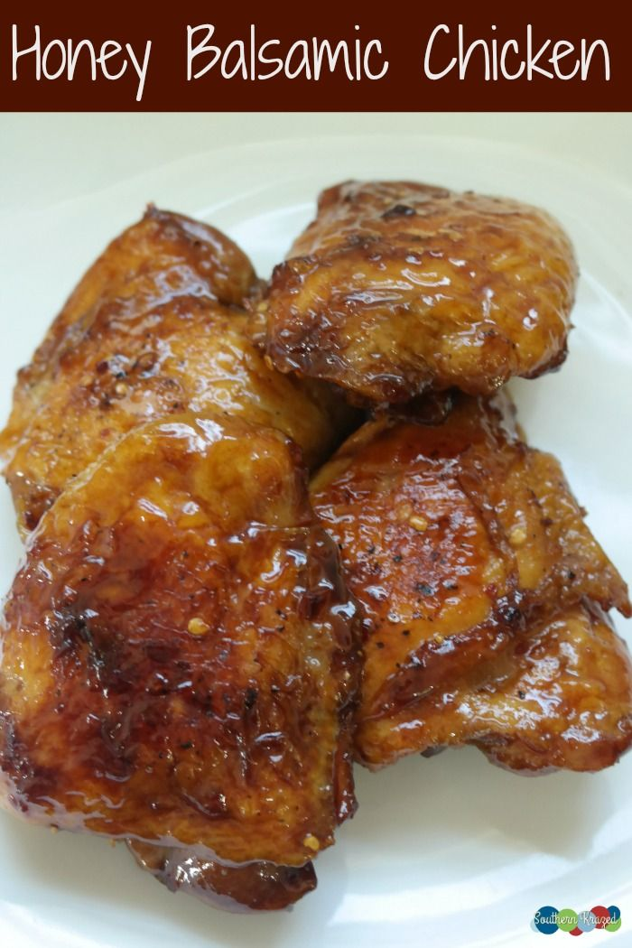 YUMMY Honey Balsamic Chicken Recipe - perfect, and easy, for an evening meal!