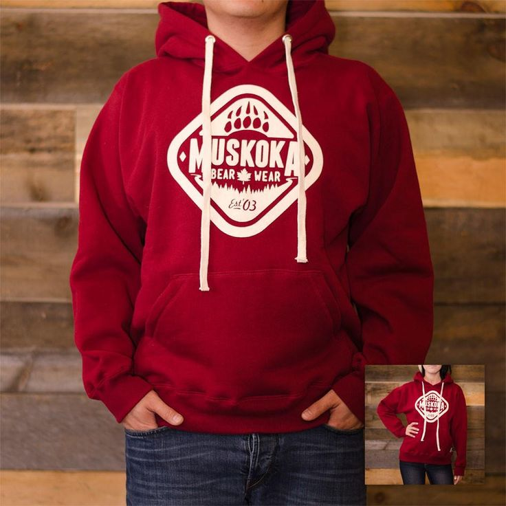 PFGD Flat Face drawstrings hoodie for Muskoka #madeincanada (pinned by redwoodclassics.net)