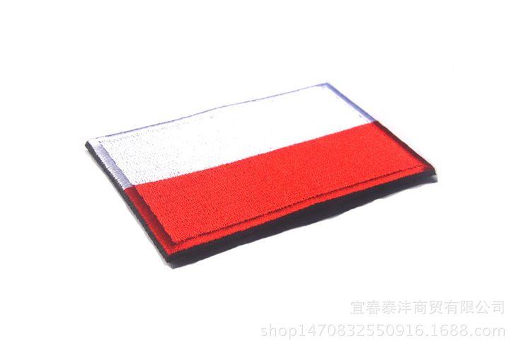 5pcs/lot Embroidery BadgeTactical Patch Polish 3D Tactical National Flag Patches For Clothing Cap Bag Drapeau de la Pologne