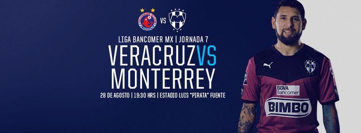 ¡Determinación al máximo en la Jornada 7 de la LIGA Bancomer MX, #Rayados!  Club de Futbol Monterrey vs. Tiburones Rojos de Veracruz este 28 de agosto a las 19:30hrs en el Estadio Luis 'Pirata' Fuente. #VamosRayados. Usa: #VERvsMTY  Transmite Sky
